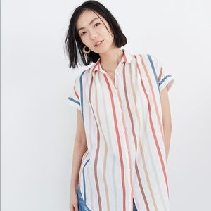 Madewell Gauze Central Tunic Shirt